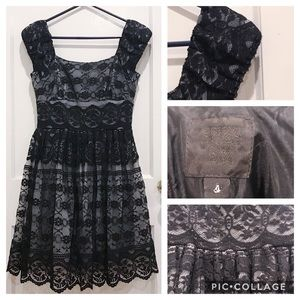 Anthropologie Anna Sui Black and Grey A-line Dress